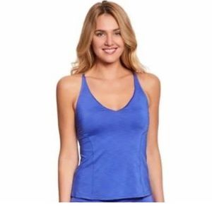 Nike Tankini Top Women's Swim Top Large Blue